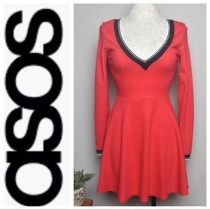 ASOS Long Sleeve A-Line Skater Dress